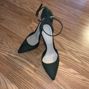 Aldo Olive Green Suede Strappy Heels